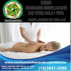 Curso Massagem Biorelaxante EAD