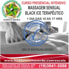 Curso Massagem Sensual Black Ice