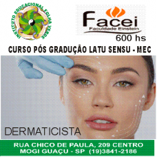 Curso Pos Graduação Latu Sensu Dermaticista Corpo e Face