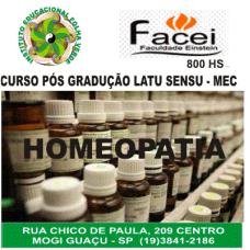 Curso Pos Graduação Latu Sensu Homeopatia