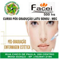 Curso Pos Graduação Latu Sensu Enfermagem Estética