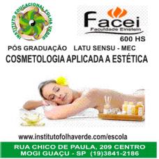 Curso Pos Graduação Latu Sensu Cosmetologia Aplicada Estetica