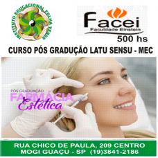 Curso Pos Graduação Latu Sensu Farmacia Estetica
