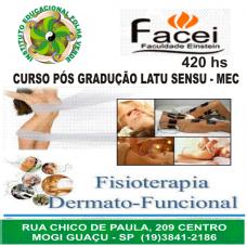 Curso Pos Graduação Latu Sensu Fisioterapia Dermato Funcional