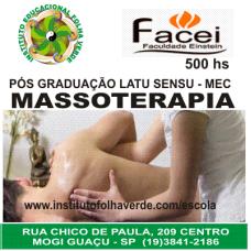 Curso Pos Graduação Latu Sensu Massoterapia
